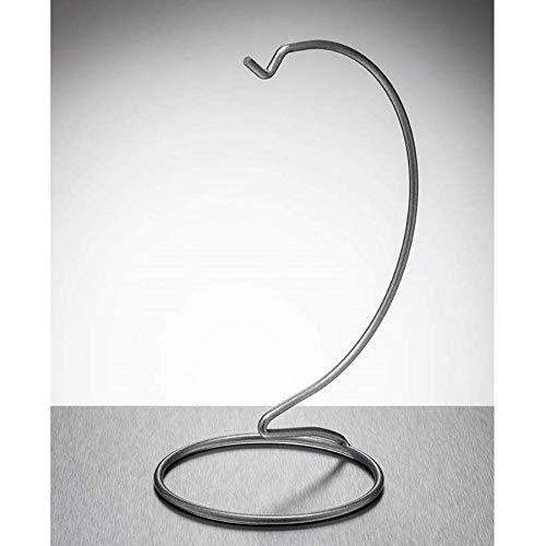 Sienna Glass Silver metal ornament stand medium