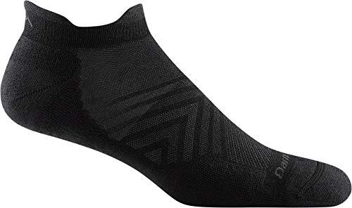 Darn Tough Style 1039 Mens No Show Tab Ultra Lightweight with Cushion Run Sock black Large