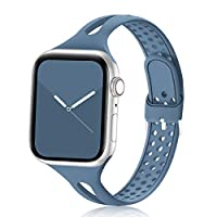Compatibility - Bandiction narrow slim silicone sport bands compatible for apple watch 38mm 40mm 42mm 44mm, apple watch series 6 / apple watch se / apple watch series 5 / apple watch series 4 / apple watch series 3 / iwatch series 2 / iwatch series 1...