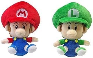 Set of 2 Little Buddy Baby Mario and Baby Luigi Plush Doll
