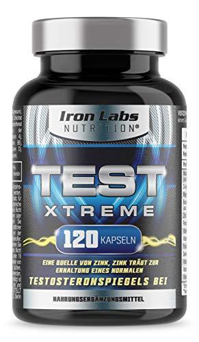 TEST XTREME® - Booster für Männer mit Aminosäuren, Zink & Vitamin D für Testosteron & Muskelfunktion | 120 Kapseln