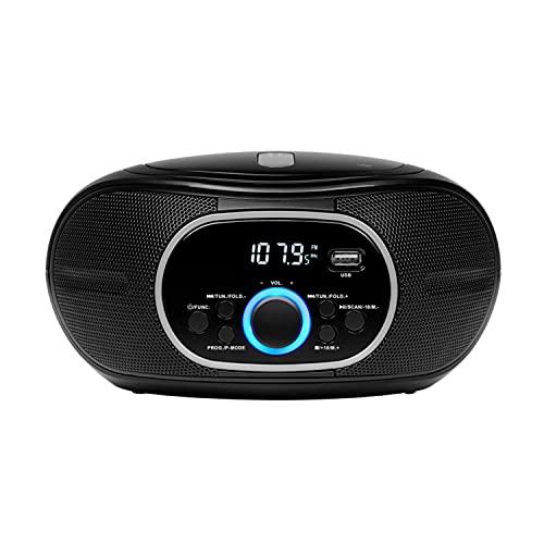MEDION tragbare Boombox E65711, CD/MP3 Player, UKW FM, AUX, Batteriebetrieb, schwarz