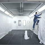 Kabinenfolie 260 cm x 200 m für Lackierkabine - Kabinenwand aus Polyethylen weiss - Farbhaftende Folie zum Schutz der Kabinenwände vor Farbnebel - Hochwertige Kabinenfolie für Lackierereien