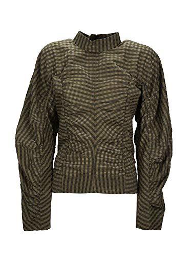 Luxury Fashion | Ganni Dames F4223861 Groen Polyamide Blouses | Lente-zomer 20