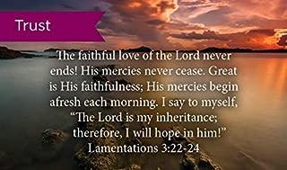 Pass Along Pocket Scripture Cards, Trust, Lamentations 3:22-24, Pack of 25