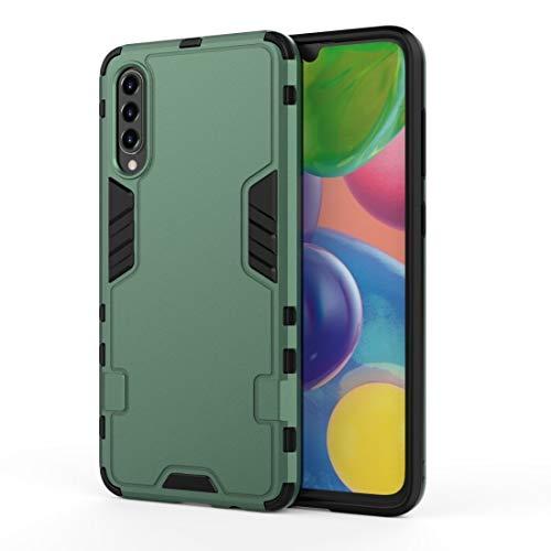 LENASH FO Galaxy A90 5G 3 en 1 Cobertura Completa Afile PC + Funda TPU (Negro) Funda para Phone (Color : Dark Green)