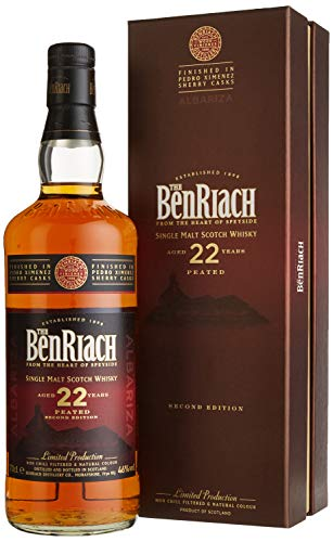 Benriach 22 Years Old PEATED Second Edition ALBARIZA mit Geschenkverpackung Whisky (1 x 0.7 l)