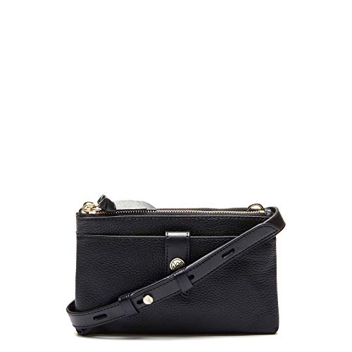 Michael Kors Womens Mk Charm Handtasche, Black, Medium