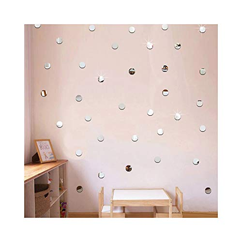 Silver Bling-Bling Dots 200pcs *2cm DIY 3D Acrylic Wall Sticker Mirror Effect Stickers Mural Children's Room Ceiling Bedroom Decor Decals adesivo de parede Home Decorations by Alrens