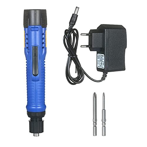 Destornillador eléctrico recargable 1500mAh 12V Mini herramienta eléctrica inalámbrica 6 modos Torques ajustables Destornillador inalámbrico recargable con puntas de 5 mm para pequeños