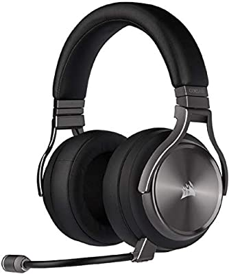 Corsair Virtuoso RGB Wireless SE High-Fidelity Gaming Headset (7.1 Surround Sound, Broadcast-Grade Omni-Directional Microphone with PC, Xbox One, PS4, Switch and Mobile Compatibility) - Gunmetal by Corsair