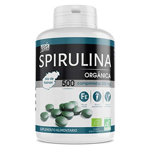 Spirulina Orgánica 500mg - 500 comprimidos