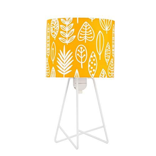 Pauleen 48046 Cute Little Leaves Tischleuchte max. 20W Tischlampe für E14 Lampen Kinderzimmerlampe Blatt ohne Leuchtmittel, Aluminium, Gelb,Weiß