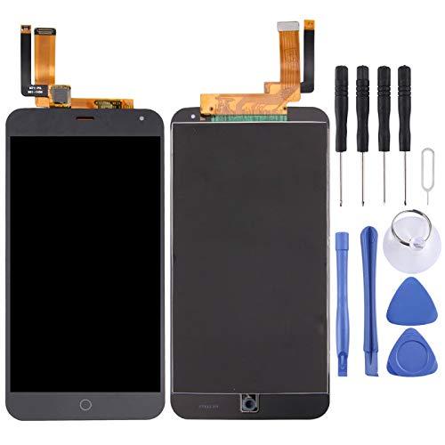 破損した部品に交換可能 Meizu M1注意事項用LCDスクリーンとデジタイザー全体組み立て (Color : Black)