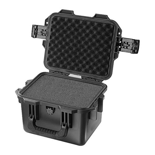 Huangwanru Sturm-Box Kleiner Sturm Box mit Schwamm Instrumentenausrüstung Box-Werkzeug-Koffer Wasserdicht Protection Box Laptop-Koffer Werkzeug Organizer (Color : Black, Size : 30x24.9x19.6cm)