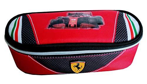Panini Estuche escolar Ferrari Kids organizado ovalado 64744