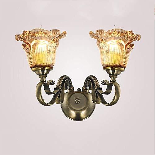 RTRY Luminaria de la Pared rústica de Estilo Europeo de Estilo Creativo lámpara de Pared Estilo Americano Sala de Estar Estudio lámpara de Pared (Color : Double Head)