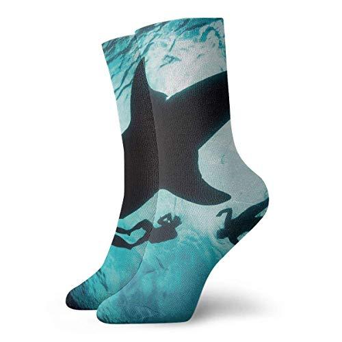 leyhjai Unisex lindo divertido casual algodón Crew 3D imprimir globo de aire caliente trabajo deporte al aire libre fútbol calcetines