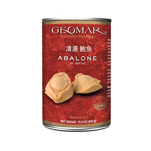 GEOMAR Abalone In Brine – Premium Farmed Sustainable Food Canned Abalone with High Protein – No Gluten and Ready to Eat – Fresh Taste Nutricious and Healthy – Comes in Protective Container