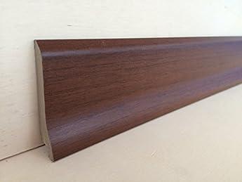 Foto di Battiscopa in mdf rivestito tonalità varie mm.70x16x2180 (prezzo per n° 5 aste ml. 10,90) (tonalità noce medio)