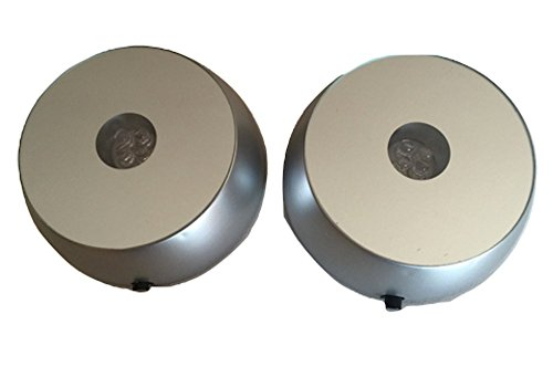 SOCLE à LEDS diamètre 7 cm piles\