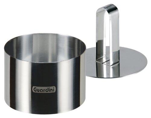 Guardini Accessori, Coppapasta tondo con stantuffo 9cm, Acciaio inox, Colore argento