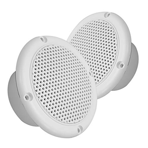Magnadyne 3 INCH Dual Cone Speaker/Grill - Polypropylene Woofer Cone 2.8 oz Magnet Sold AS A Pair (White)