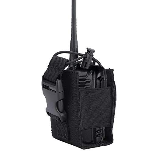SALUTUYA Estuche Militar versátil para interfono con Estuche para Radio, para Sistema Molle(Black)