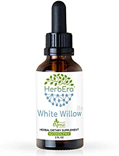 White Willow B60 Alcohol-Free Herbal Extract Tincture, Super-Concentrated Organic White Willow (Salix Alba) Dried Bark 2 f...