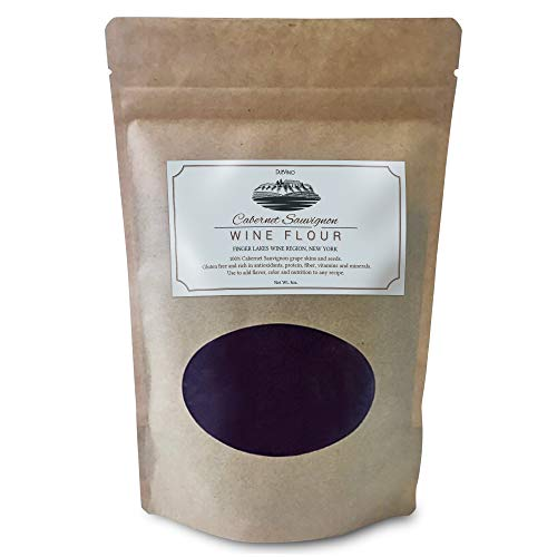 Cabernet Sauvignon Wine Flour/Wine Powder made 100% from Grape Skins and Seeds grown in NY Wine Region- Gluten Free Flour Rich in Antioxidants, Protein & Fiber- Use to Add Flavor, Nutrition and Color