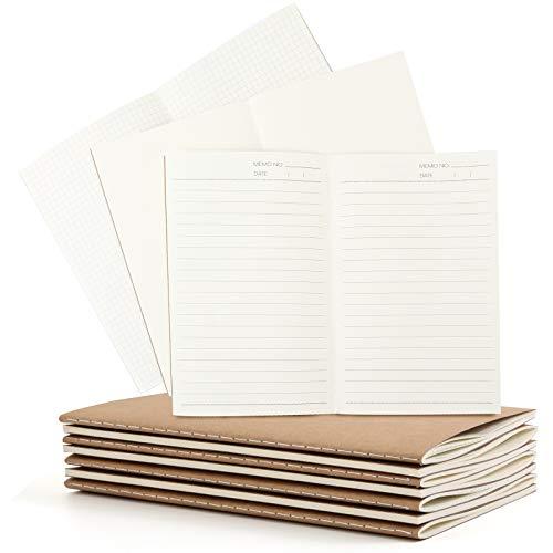 SallyFashion Notizblock A5, 10 Stück Klein Notizbuch 30 Blatt A5 Notizheft Skizzenblock Journal Tagebuch Schreibblock Zeichenblock