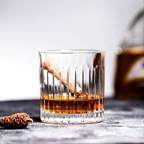 Theekopjes,Japanse Stijl Gestreepte Whisky Cup Klassieke Bier Cocktail Wodka Brandy Wijnglas Drank Cup Glazen Bar Speciaal Huishouden 320ml Gestreepte Whiskey Cup
