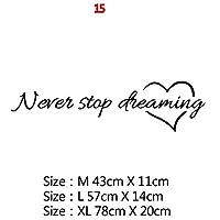意欲を高める大規模オフィス引用フレーズビニールウォールステッカーデカールのためにリビングルームのベッドルーム教室事務所壁紙装飾 (Color : 5, Size : Size M)