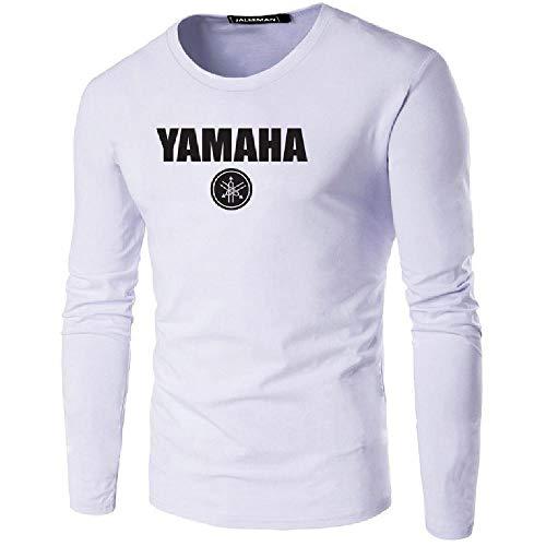 Langärmliges T-Shirt, runder Halsausschnitt, langärmelig Gr. 6XL, weiß