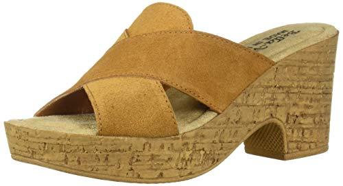 Bella Vita Women's Bella Vita Lor-Italy slide sandal Shoe, Tobacco Italian suede leather, 7.5 2W US