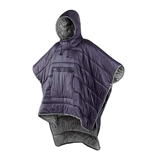 WYJW Honcho Poncho Wearable Hoodie Blanket - Saco de Dormir Premium para Acampar Capa de Invierno para Exteriores Capa, Clima Extremo Cálido/Impermeable/a Prueba de Viento Manta con