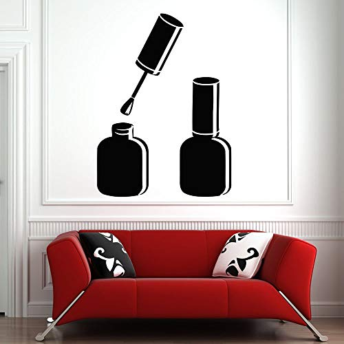 Schönheitssalon Wandtattoos Nagelstudio Aufkleber Kunst Wandaufkleber Nagellack Muster wasserdichte entfernbare Aufkleber42x57 cm