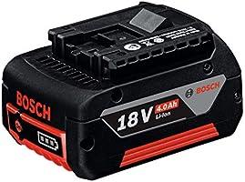 Bosch Professional 1600Z00038 GBA Batteria, 4.0 Ah, M-C, 18 V, Nero, 600 g