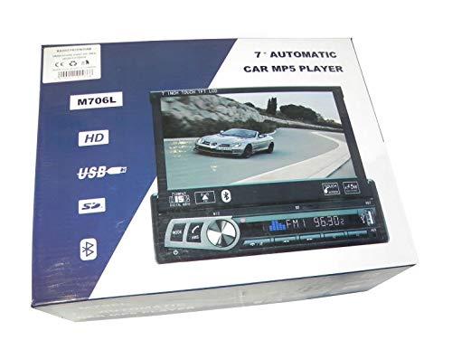 'B-BLACK' AUTORADIO CON MONITOR GPS SATELLITARE NAVIGATORE BLUETOOTH FUNZIONE MONITOR RETROMARCIA