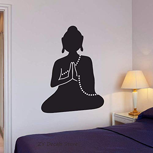 Buda Tatuajes De Pared Meditación Monje Budista Yoga Vinilo Pegatinas De Pared Para...
