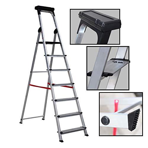 Escalera Ancha de Aluminio ELITE PLUS (7 Peldanos)