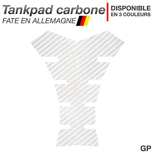 Motoking Tankpad Carbone GP - réservoir de la Moto et de la Protection de la Peinture, Universel - Disponible en 3 Couleurs - Blanc
