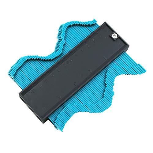 sunnyflowf 120MM Kunststoffkontur Duplizierungsprofil Kopierlehre Lineal für Duplikatorfliesen Laminatfliesen Werkzeuge Holzmarkierungswerkzeug - Blau