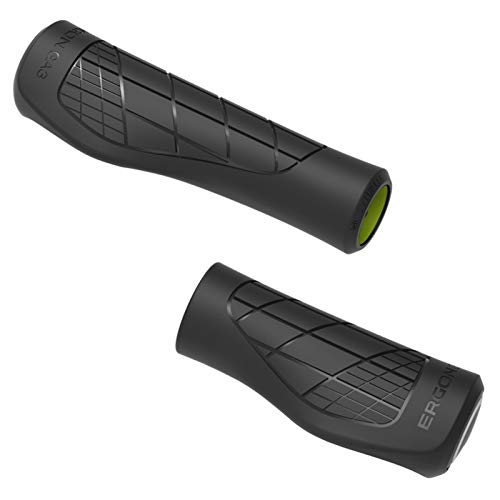 Ergon GA3 Single Twist Shift Noir Grip de VTT et de Vélo Adulte Unisexe, Taille Unique