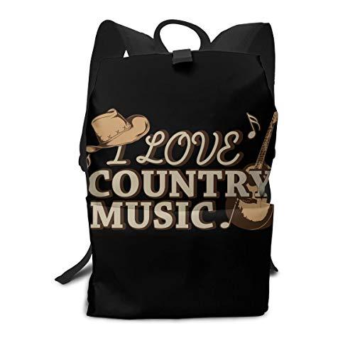 Iop 90p I Love Country Music 2 Sac à dos pour ordinateur portable, Polyester, blanc, Taille unique