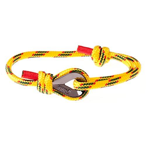 Wind Passion Gelb Geprüfte Qualität Segeltau Nautic Maritim Herren Armband