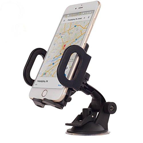 N-K Soporte de teléfono móvil, de escritorio, ajustable, con ventosa de 360 grados, soporte de coche para teléfonos móviles, PDA, GPS, MP4, MP5, grabadora DVR, creativo y útil