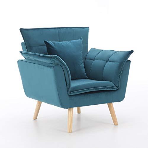 LYXDZW Sofá Cama Plegable Individual Silla Sillón Ajustable Tumbona con Colchón para Oficina Balcón Jardín 30.1x27.1x36.6inch (Color : Blue)