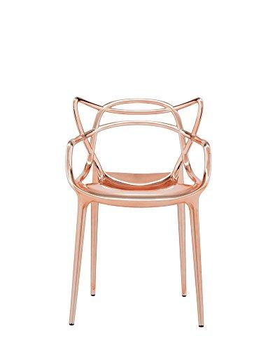 Kartell - Masters - Kupfer - Philippe Starck mit Eugeni Quitllet - Design - Esszimmerstuhl - Speisezimmerstuhl - Gartenstuhl - Küchenstuhl - Terrassenstuhl