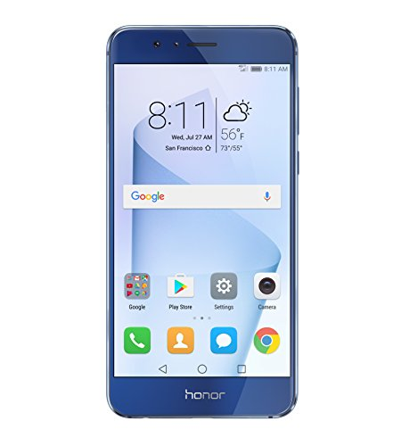 Huawei Honor 8 Dual Camera Unlocked Phone 64GB - Sapphire Blue - GSM - US Warranty
